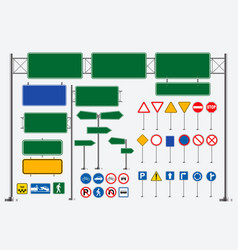 Set of street sign vector