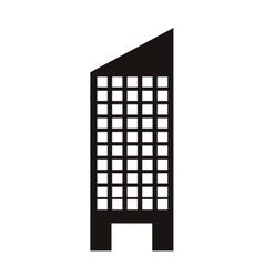 silhouette monochrome with skyscraper building vector image