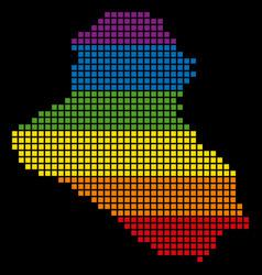 Spectrum pixel lgbt iraq map vector