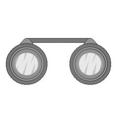 Sport binoculars icon gray monochrome style vector