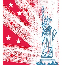 Statue of Liberty grunge background vector image