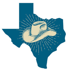 texas lone star state vintage design vector image