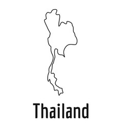 thailand map thin line simple vector image