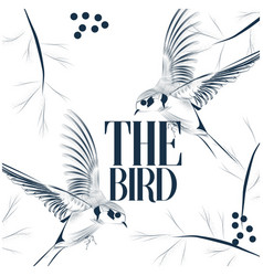 The bird martin background image vector