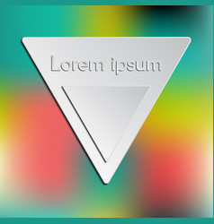 triangle logo and interface template vector image