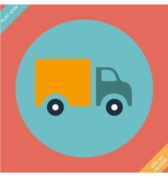 Truck Icon - Flat design vector