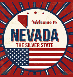welcome to nevada vintage grunge poster vector image