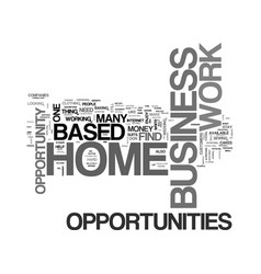 work at home based business opportunities the vector image