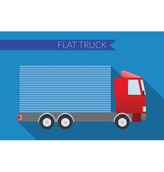 Flat design city Transportation small truck for vector image vector image