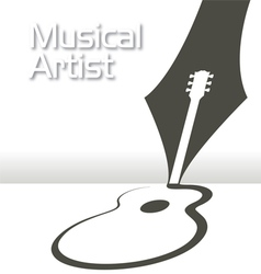 GUITAR Pen Music vector image