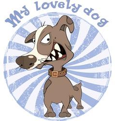 Hunting Dog Badge Cartoon vector image vector image