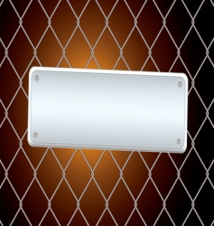 sign fence night vector image vector image