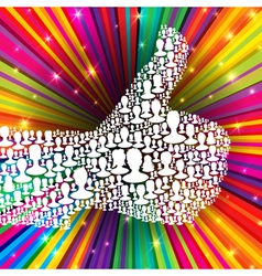 thumb up symbol many peoples vector image vector image
