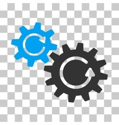 Cogs Rotation Icon vector image vector image