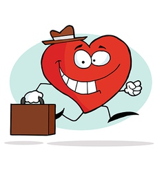 Happy Business Heart vector image vector image