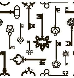 Ornamental medieval vintage keys pattern vector image