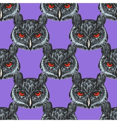 seamless background with owl vector image