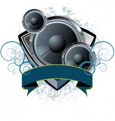 speaker shield vector image vector image