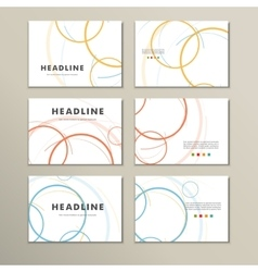 abstract circle set vector image