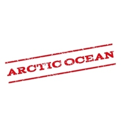 Arctic ocean watermark stamp vector