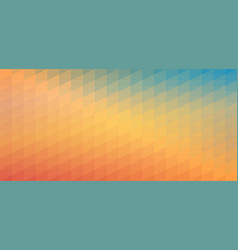 blue and orange gradient mosaic pattern vector image vector image
