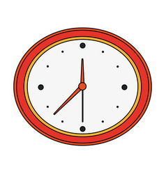 color image cartoon analog wall clock vector image vector image