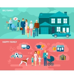 Family Banner Set vector image