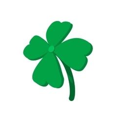 Four leaf clover cartoon icon vector image