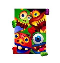 Funny monster cartoon vector image