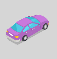 Purple car window isolated vector