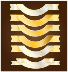 Ribbon gold and silver vector image