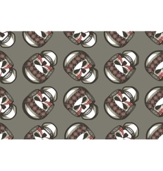 Seamless pattern with skull vector image vector image