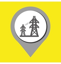 tower of energy isolated icon design vector image