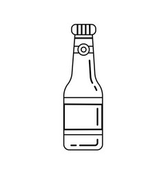 beer bottle line icon vector image