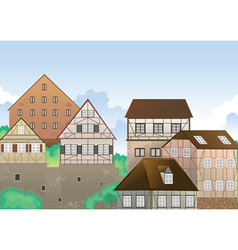 colony of houses vector image vector image