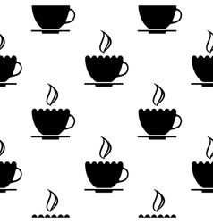 cups of coffee pattern vector image