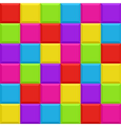 Multicolored blocks seamless background pattern vector image