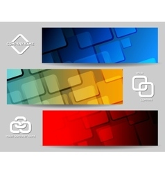 Square Banner Set vector image vector image
