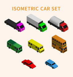 3d isometric car set vector image
