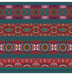 Abstract ornamental ethnic stripes elements vector image