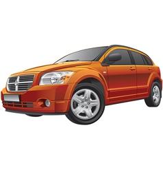 American compact car vector