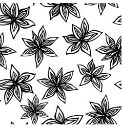 Anise star seed seamless endless pattern seasonal vector