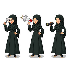 arab businesswoman looking for poses vector image