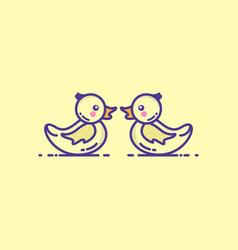 Baby duck logo icon template design vector