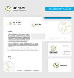 Bacteria plate business letterhead envelope and vector