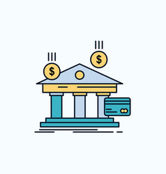 bank payments banking financial money flat icon vector image