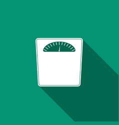 bathroom scales icon isolated with long shadow vector image