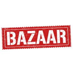 Bazaar sign or stamp vector