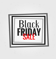 black friday background with black frame vector image