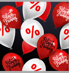 black friday sale background - many balloons vector image